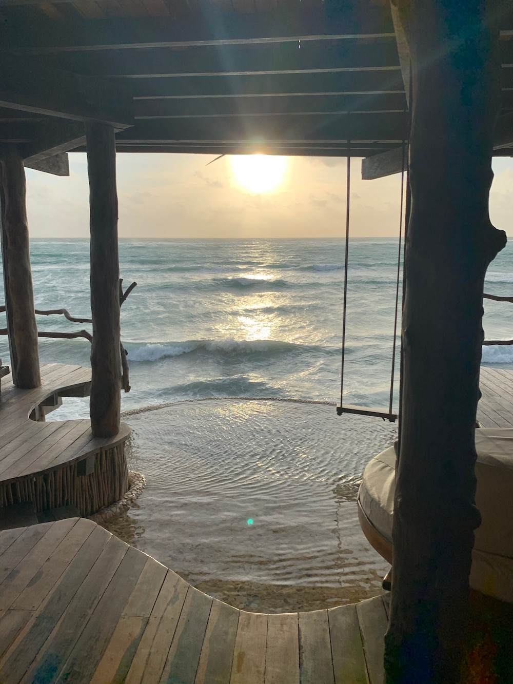 The view from my room at Azulik. Photo: Natasha Stagg.