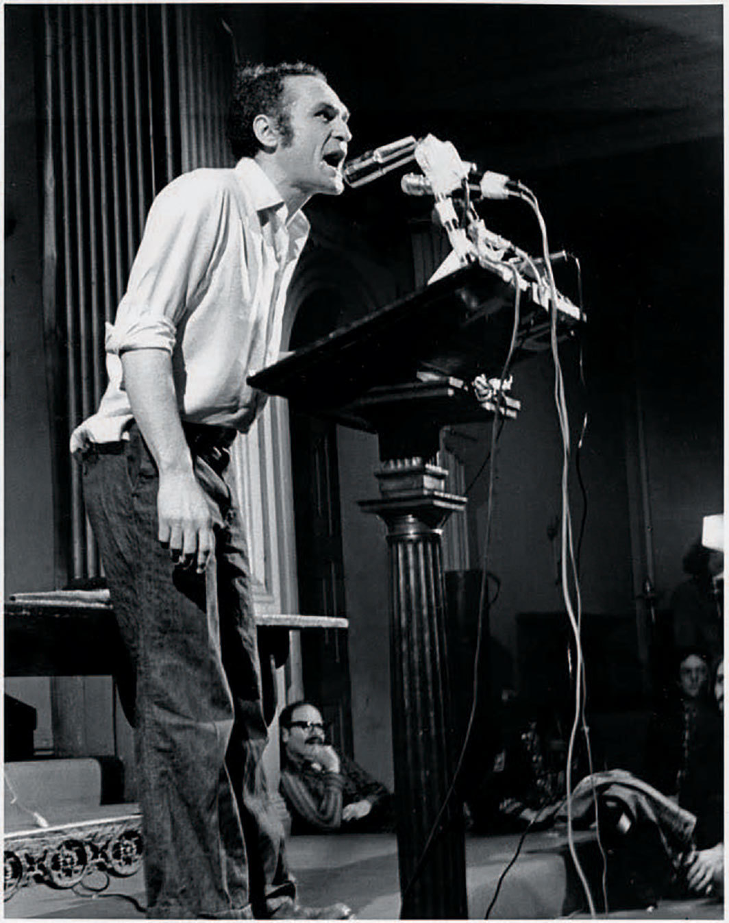 John Giorno giving a reading at St. Mark's Church, New York, April 28, 1974. Photo: Gianfranco Mantegna.