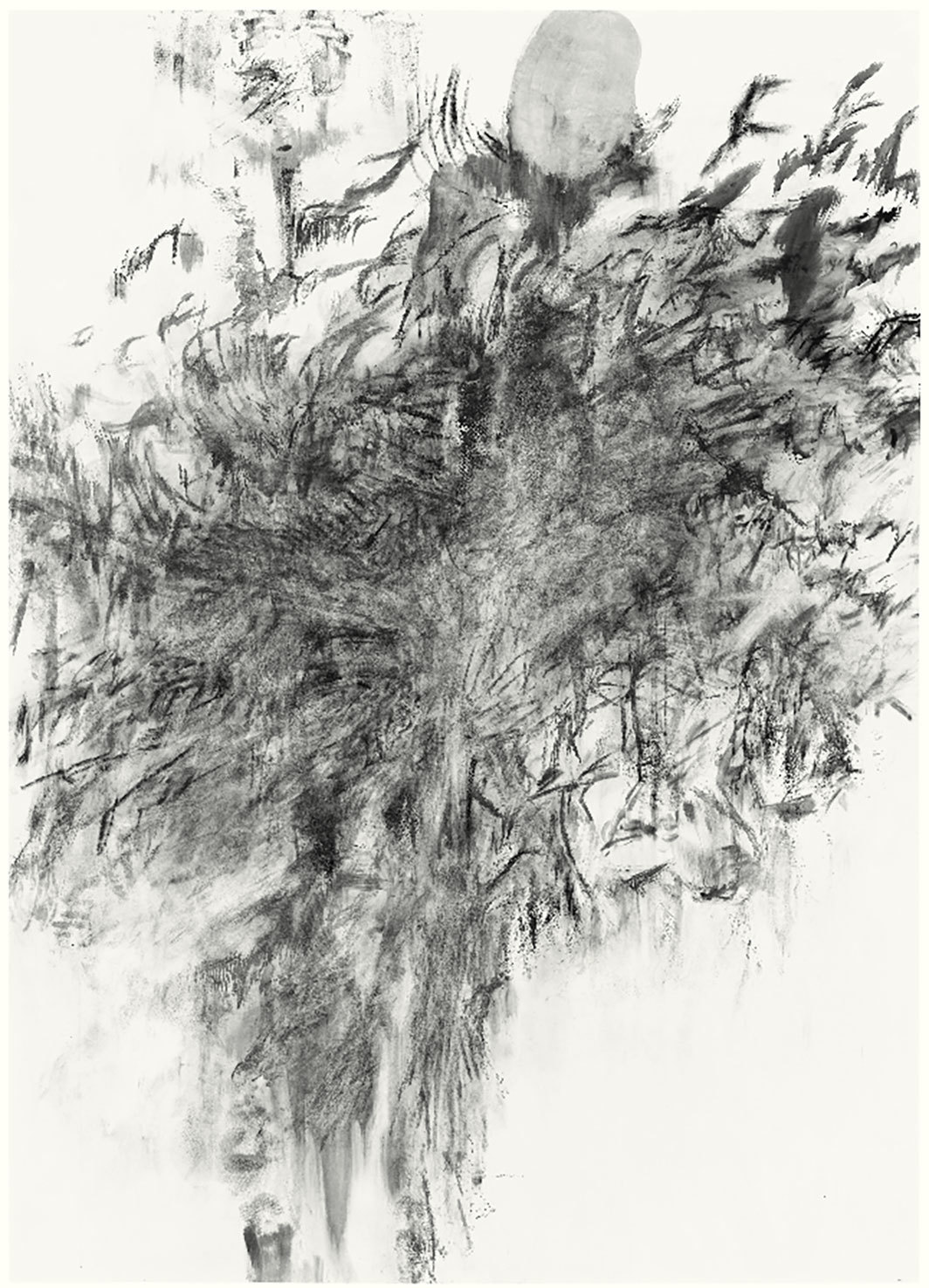 "Julie Mehretu, Being Higher II, 2013, ink and acrylic on canvas, 84 × 60""."