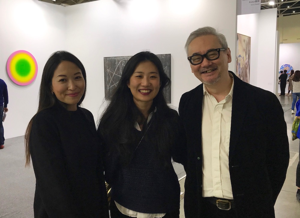 Domus Collection's Rosy Wu, Mine Project's Emerald Mou, and Gallery Exit director Anthony Tao.