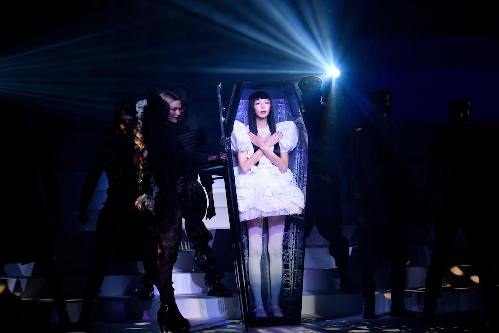 Models present creations of Jean Paul Gaultier's Spring/Summer 2020 Haute Couture collections during Paris Fashion Week in Paris, France, on Jan. 22, 2020. Photo: Piero Biasion/Xinhua.