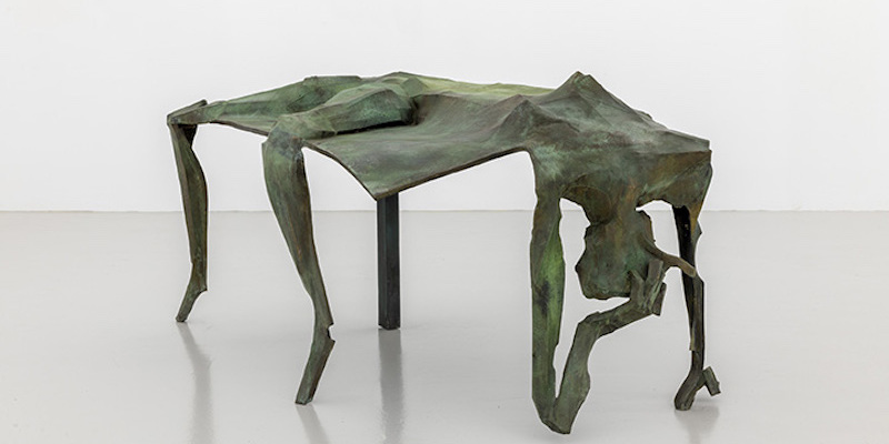 "Georg Herold, Après Rasage (Aftershave), 2015, bronze, 39 x 47 x 84 1/2""."