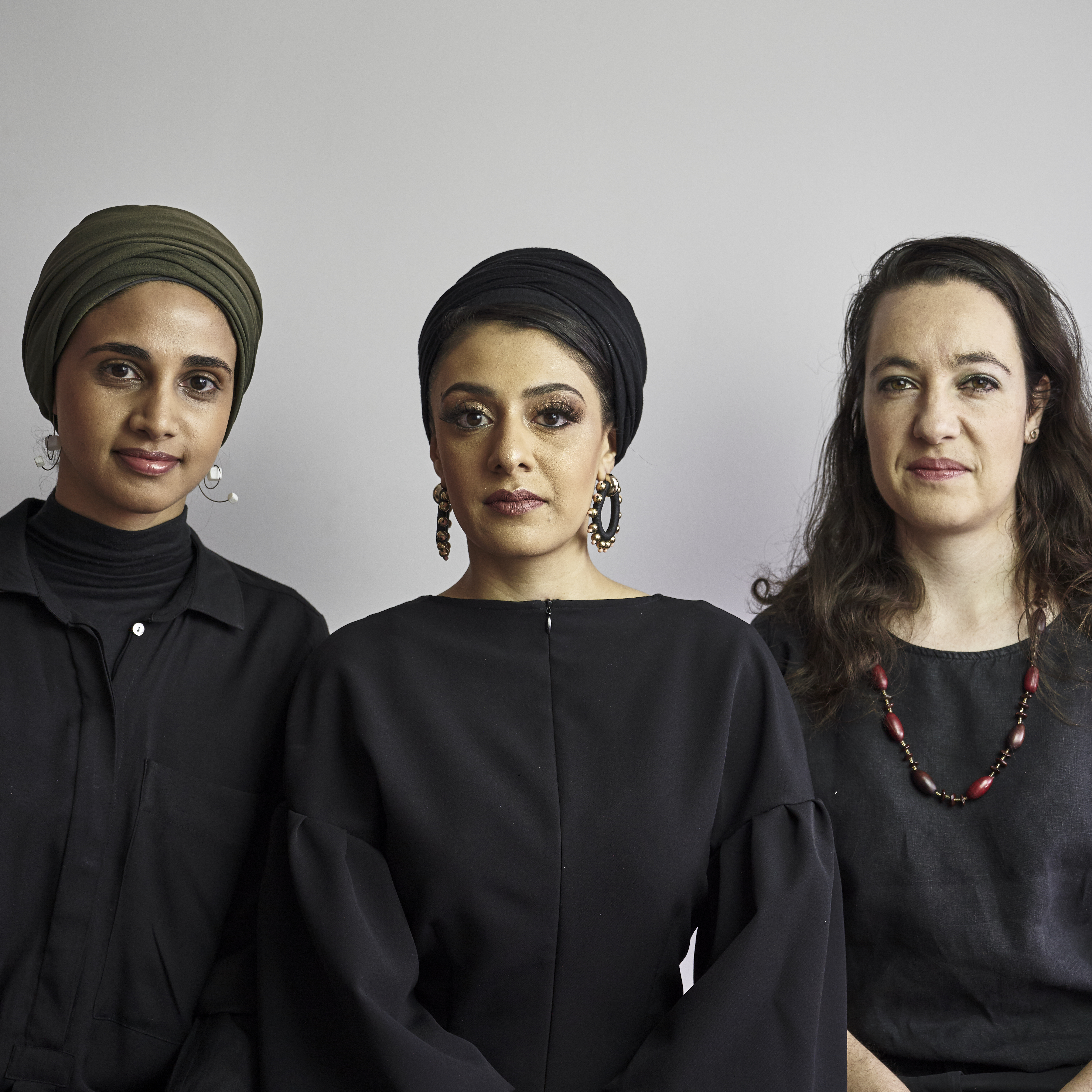 Amina Kaskar, Sumayya Vally and Sarah de Villiers of Counterspace in Johannesburg, 2020. Photo: Justice Mukheli. Courtesy of Counterspace.