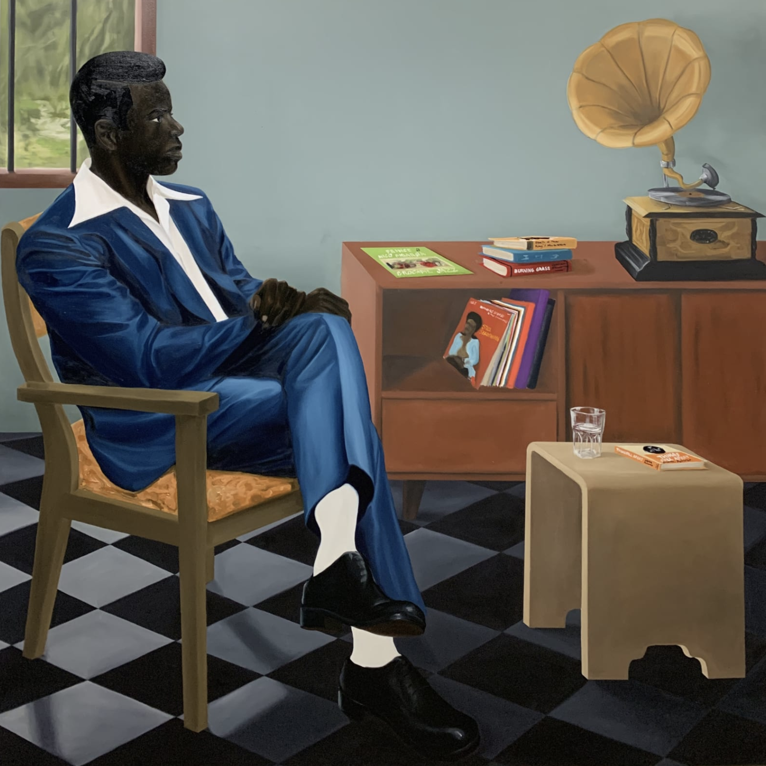 Peter Uka, Quiet Listening, 2020. Courtesy of the artist and Mariane Ibrahim.