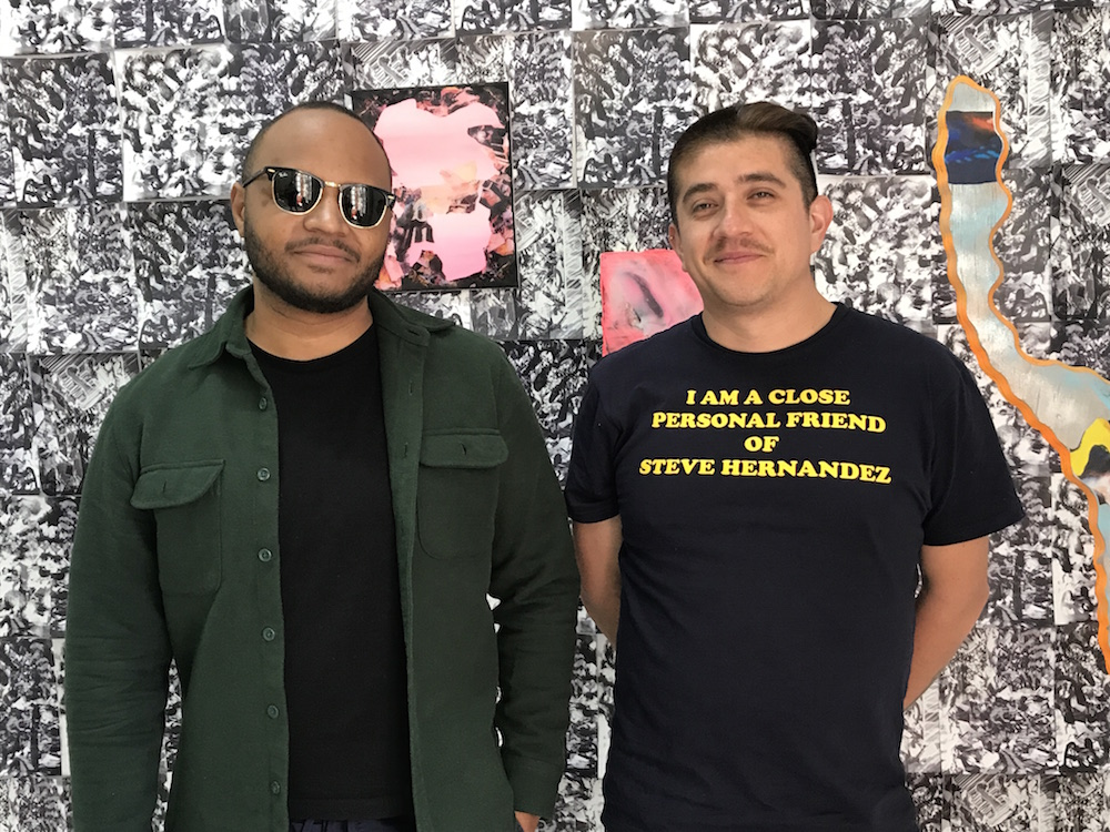 Artists Rushern Baker IV and Jorge Mujica at Qipo.