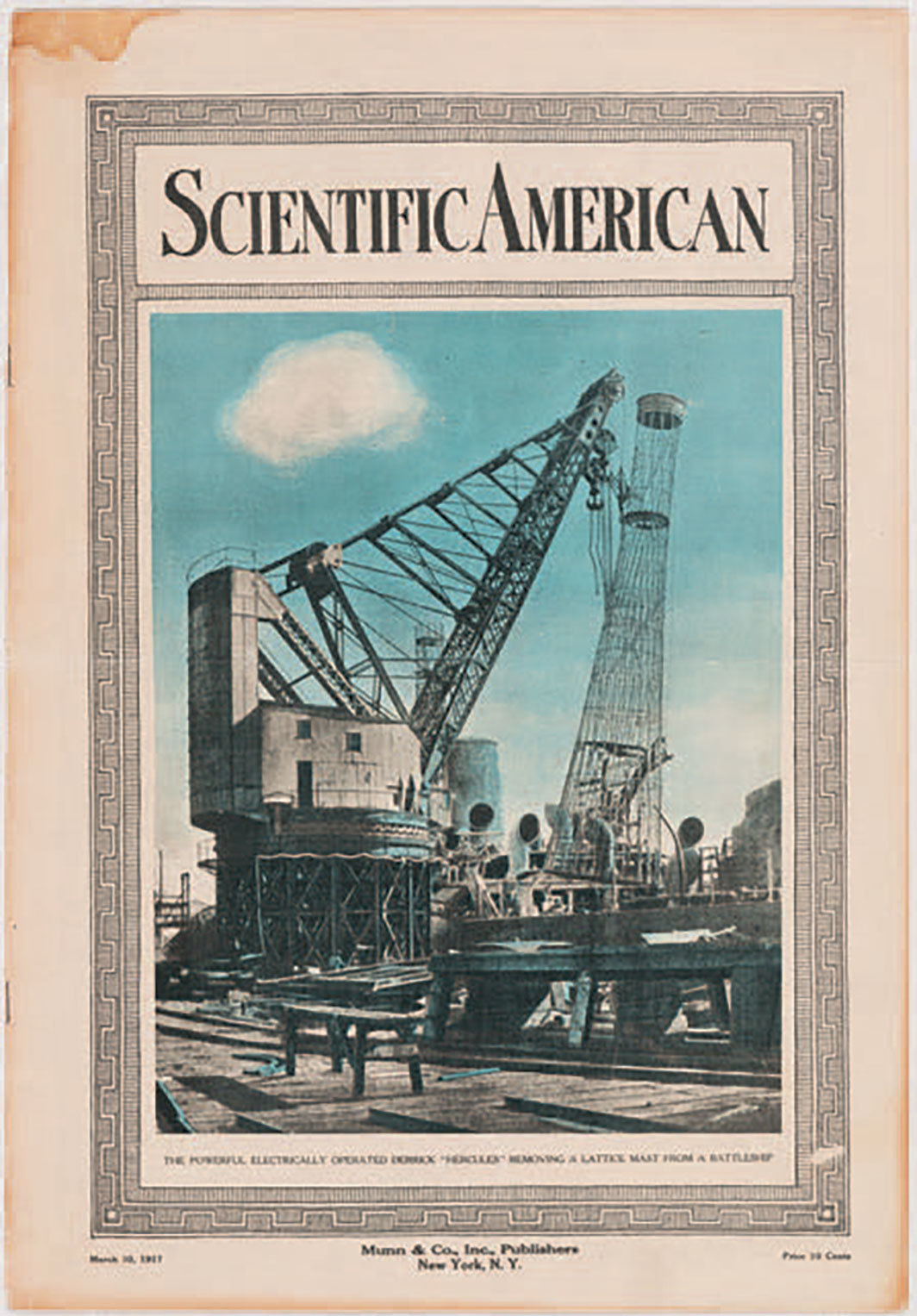 Cover of Scientific American, March 10, 1917.