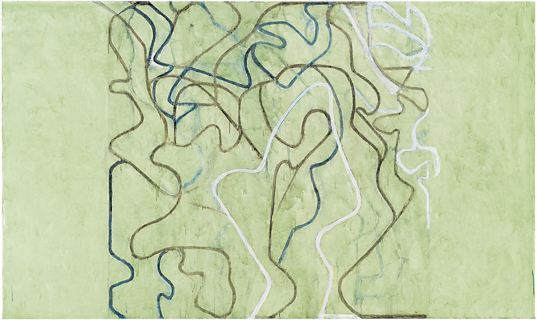"Brice Marden, Elevation, 2018–19, oil on linen, 72 × 120""."