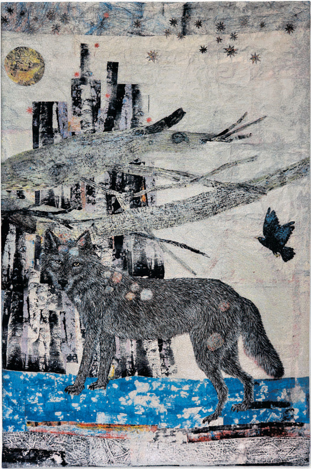 "Kiki Smith, Cathedral, 2012, jacquard tapestry, 116 1⁄8 × 75 5⁄8""."