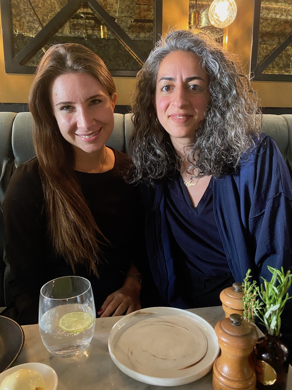 Writer Rebecca Proctor and curator/consultant Aya Mousawi.