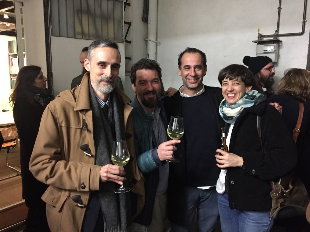 Artists Pereñíguez, Miki Leal, and Elena Alonso, and publisher and designer Bruno Lara.