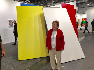 Helga de Alvear at her stand at ARCO.