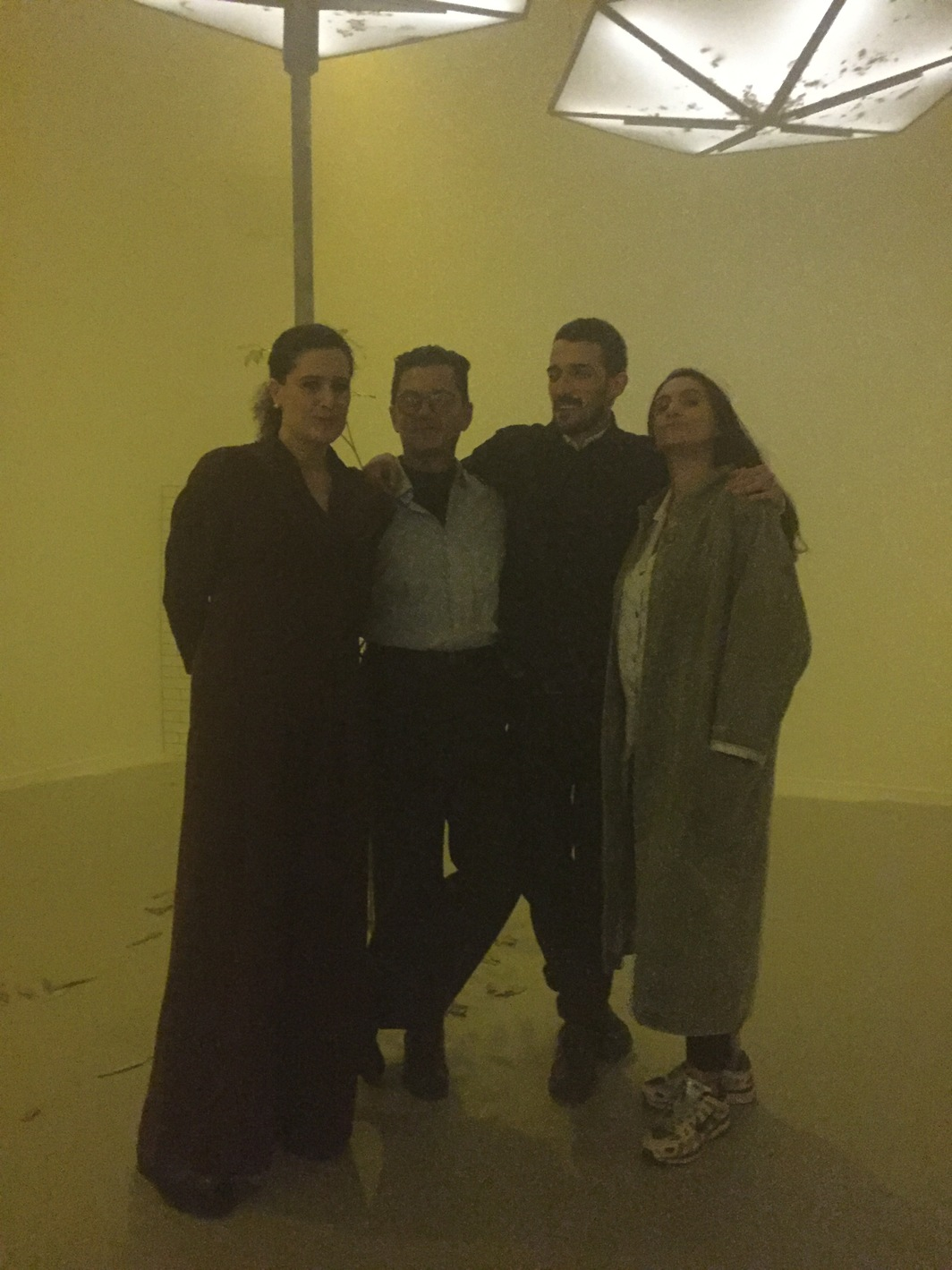Lucia Casai and Monica Carroquino, from La Casa Encendida, and artist Alvaro Urbano.