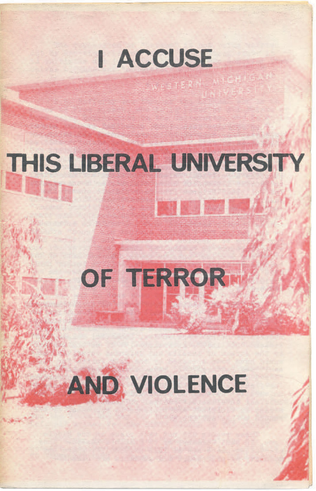 Cover of Fredy Perlman's I Accuse This Liberal University of Terror and Violence (Black & Red, 1969).