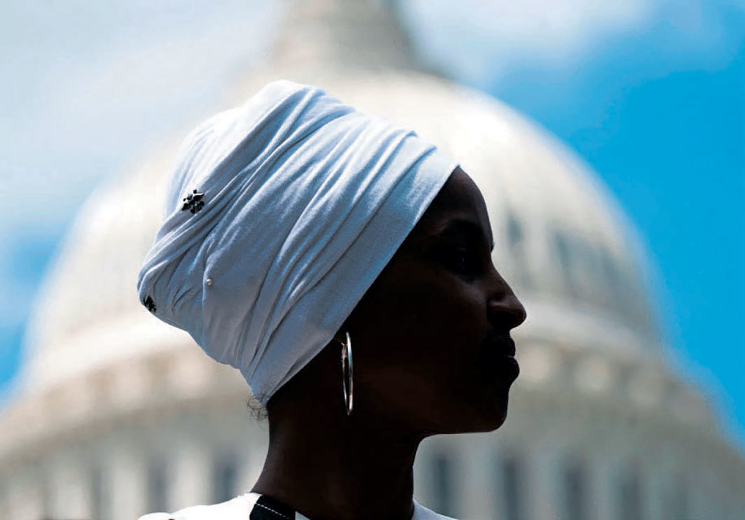 Ilhan Omar, Washington, DC, June 24, 2019. Photo: Jim Lo Scalzo/Epa-Efe/Shutterstock.