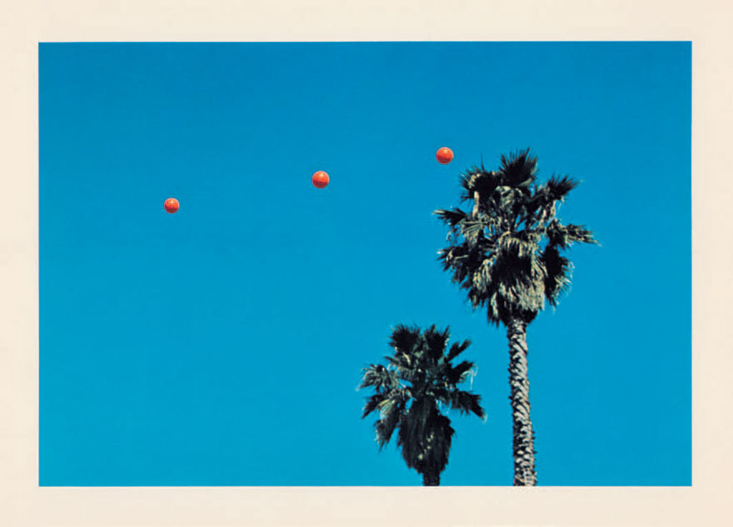 "John Baldessari, Throwing Three Balls in the Air to Get a Straight Line (Best of Thirty-Six Attempts) (detail), 1973, twelve offset lithographs on paper, clamshell portfolio, each sheet 9 5⁄8 × 12 3⁄4"". © Estate of John Baldessari."