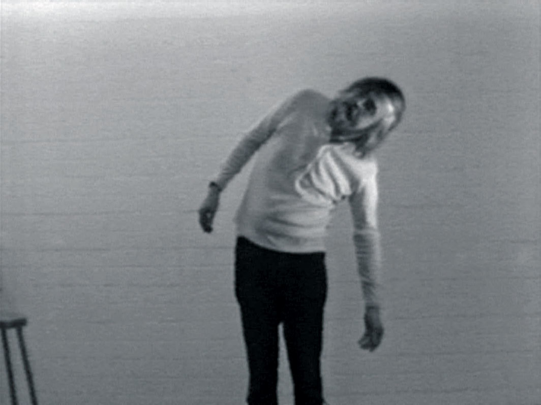 Still from John Baldessari's I Am Making Art, 1971, video, black-and-white, sound, 18 minutes 40 seconds. © Estate of John Baldessari.