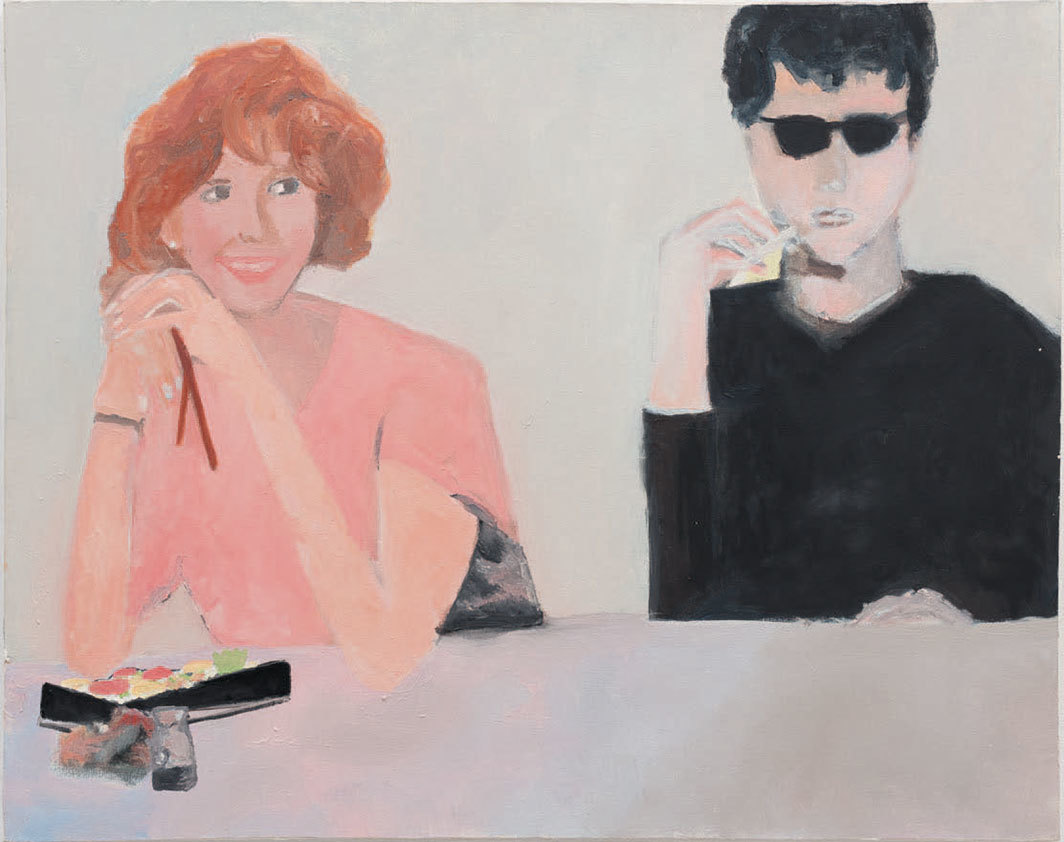 "Trevor Shimizu, Molly Ringwald (Self-Portrait), 1999, oil on canvas, 32 × 41""."
