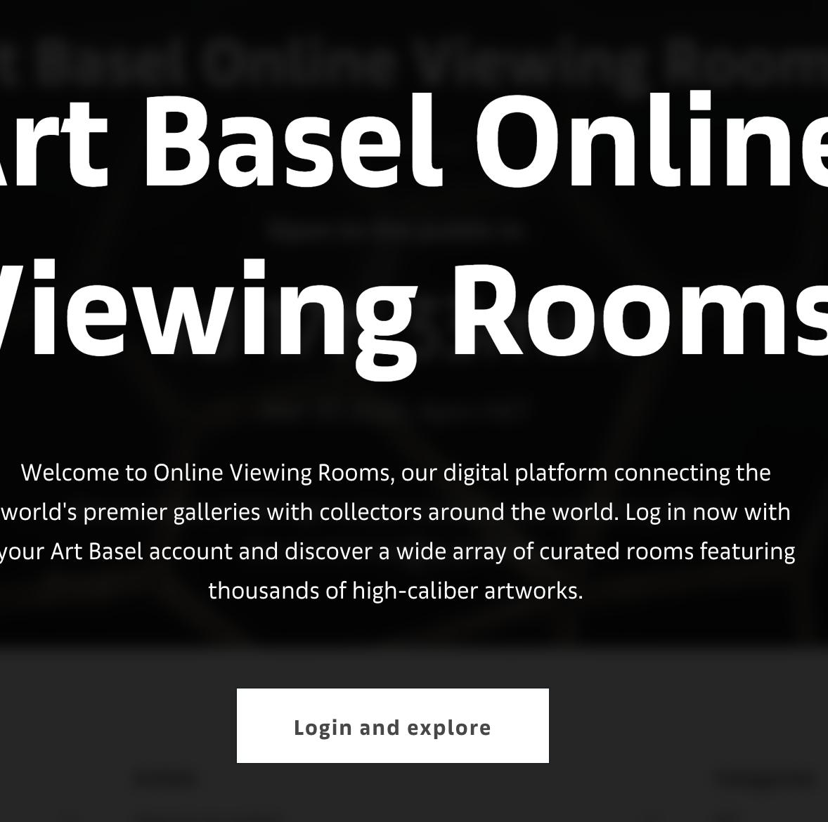Art Basel Hong Kong Launches Its Online Viewing Rooms Artforum International