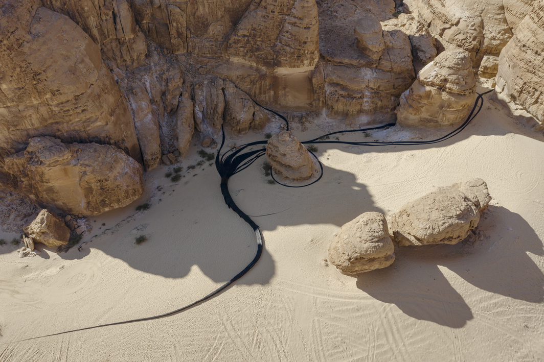 Muhannad Shono, The Lost Path, 2020. Photo: Lance Gerber. Courtesy the artist, Athr Gallery, and Desert X AlUla.