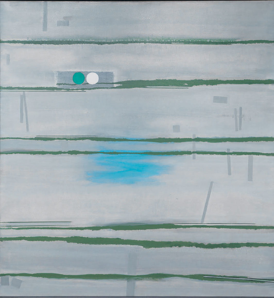 "Prunella Clough, Disused Land, 1999, oil on canvas, 53 × 49""."