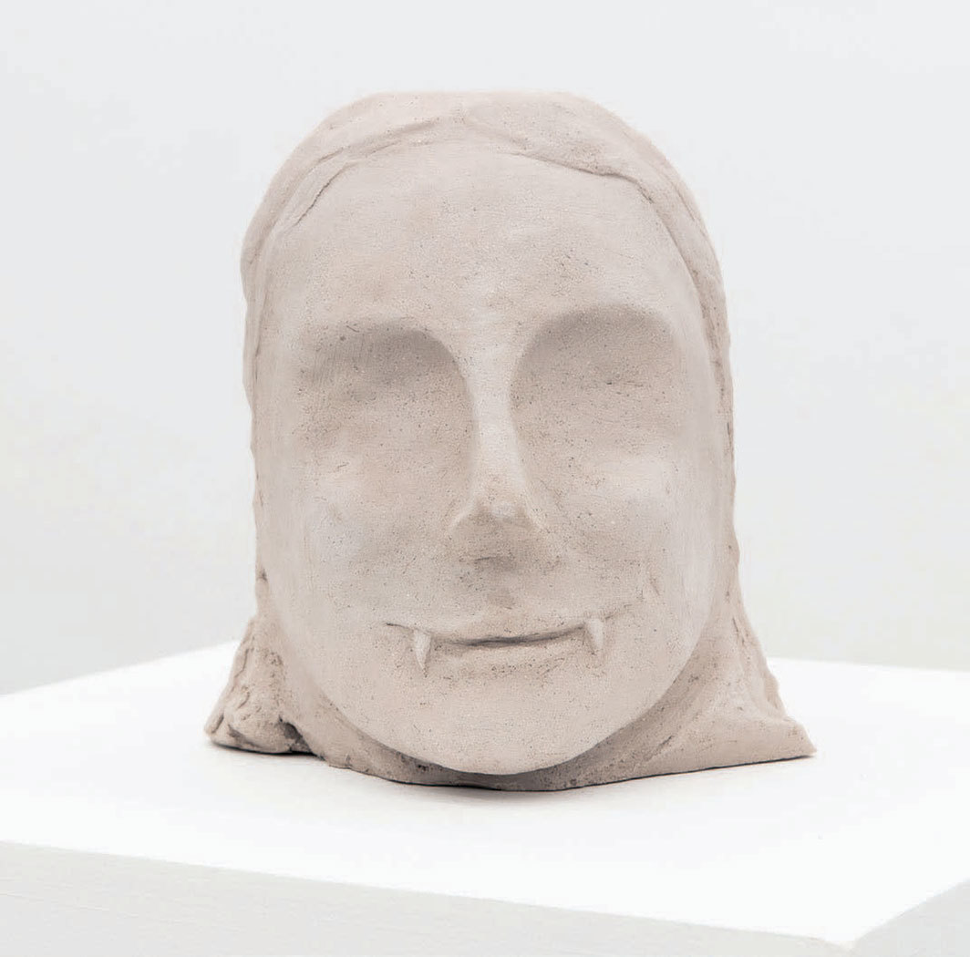 "Renato Leotta, Lighea, 2019, clay, 7 7⁄8 × 6 1⁄4 × 5 7⁄8""."