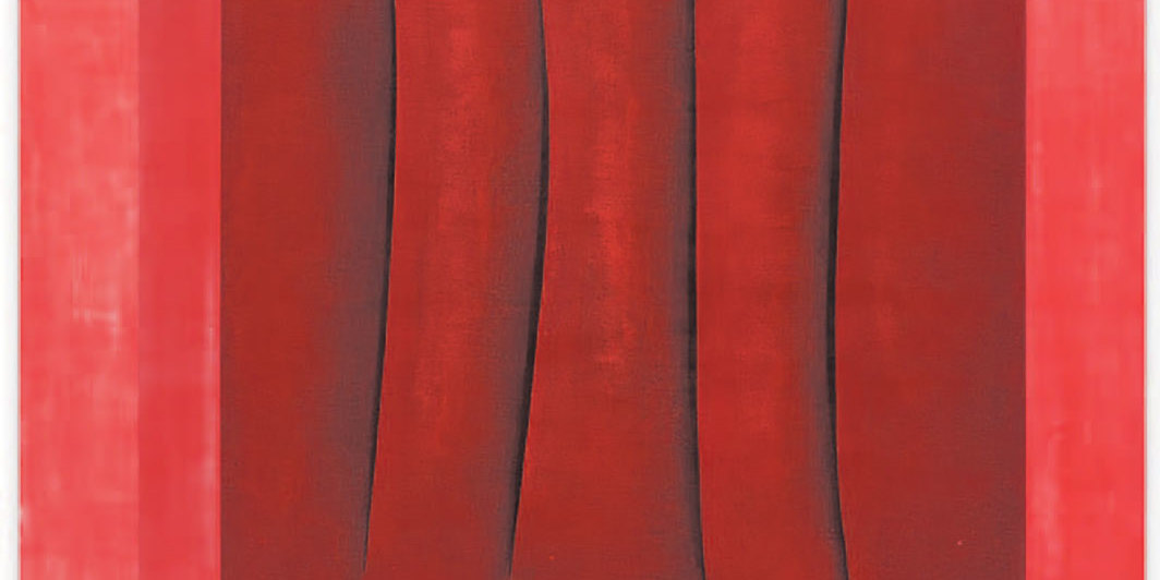 "Susanne Paesler, o. T. (Untitled),_ca. 1998, lacquer and foil on aluminum, 59 × 59""."