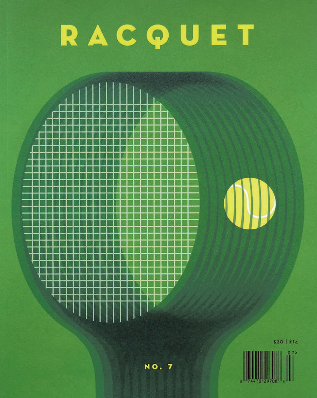 *Cover of _Racquet,_ no. 7 (Summer 2018).*