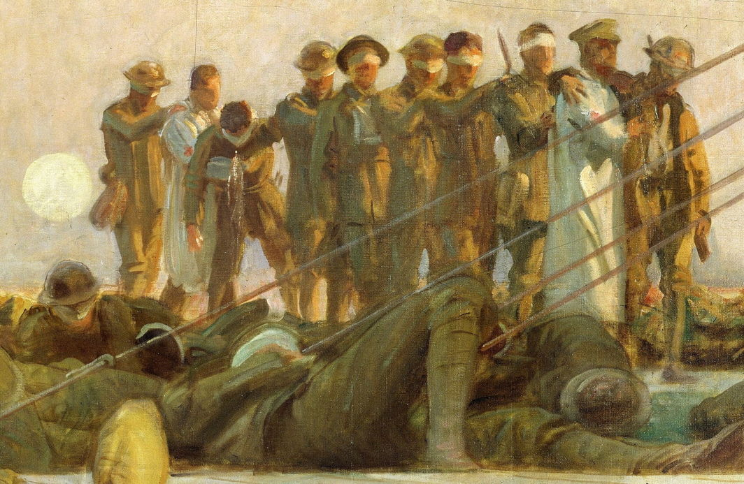John Singer Sargent, Gassed (detail), 1918–19, oil on canvas, 7' 7'' x 20'. Imperial War Museums, London.