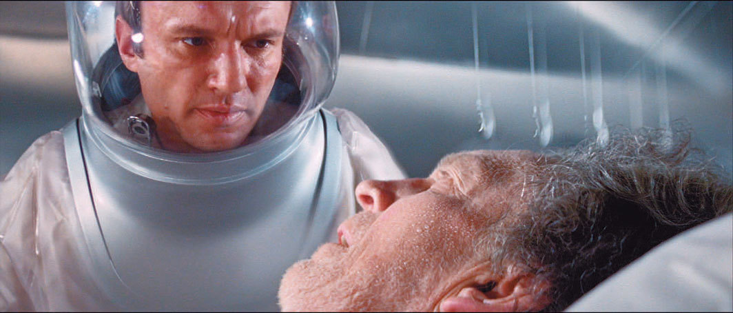 Robert Wise, The Andromeda Strain, 1971, 835 mm, color, sound, 131 minutes. Dr. Mark Hall (James Olson) and Jackson (George Mitchell).
