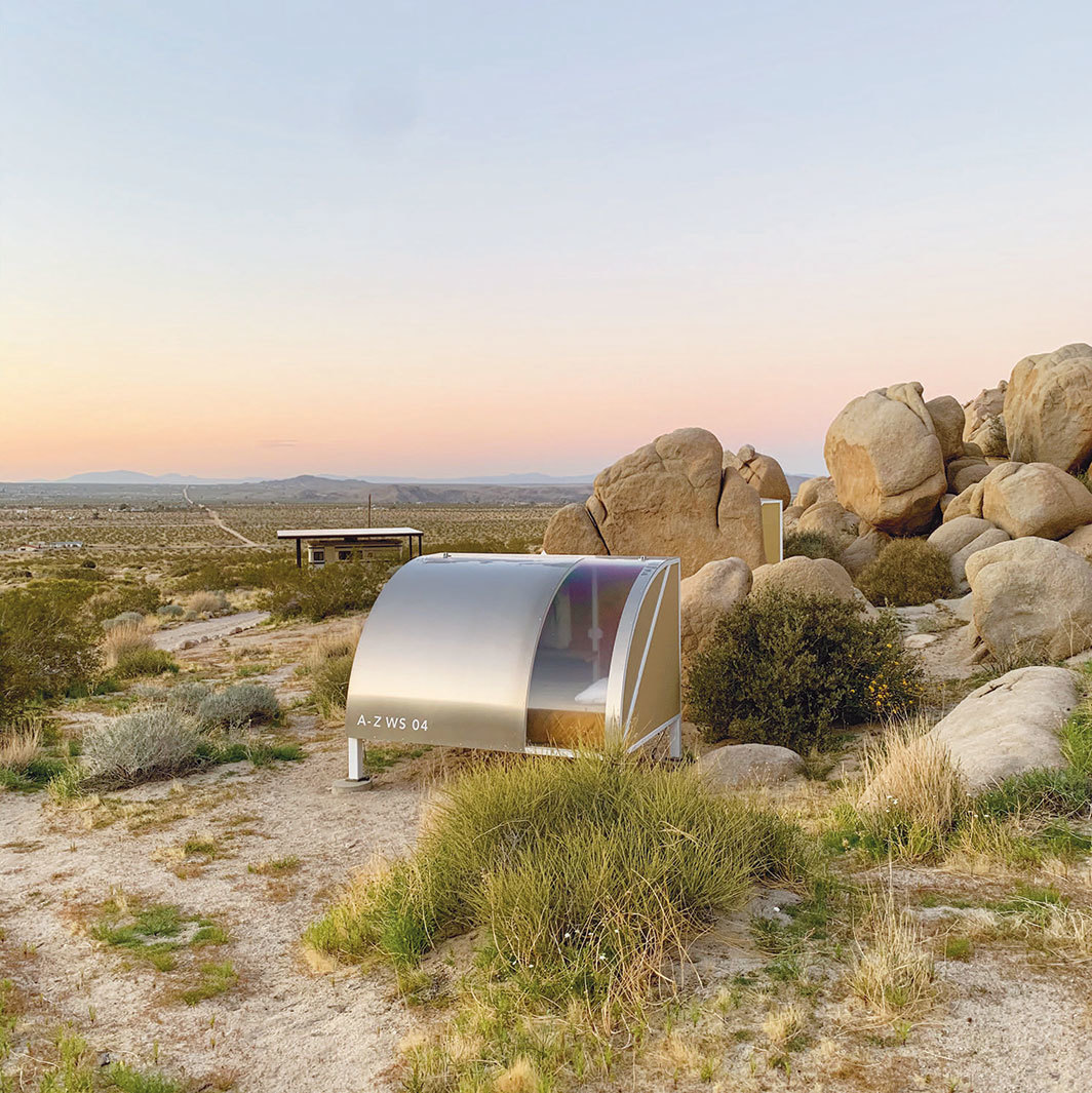 Andrea Zittel's A-Z West, Joshua Tree, CA, April 2020. Photo: Andrea Zittel.