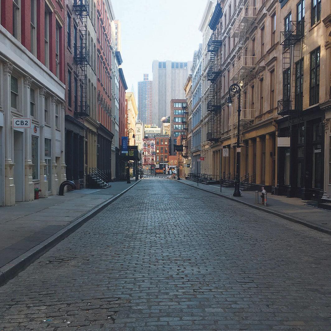 Mercer Street, New York, March 26, 2020. Photo: John Kelsey.