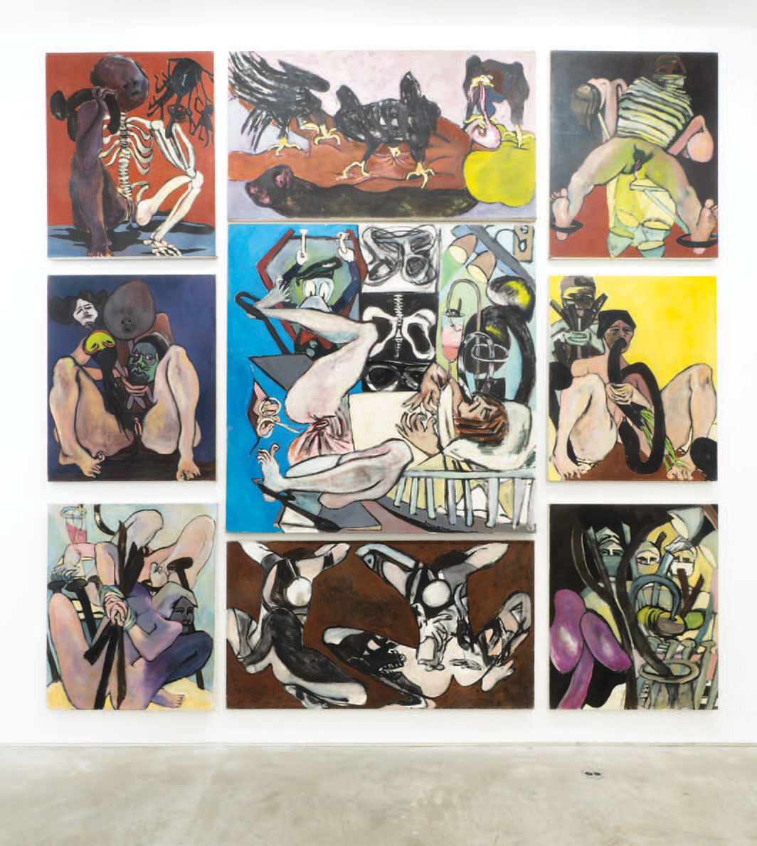 Juanita McNeely, Is It Real? Yes It Is, 1969, nine panels, oil on linen, overall 12 × 12'.