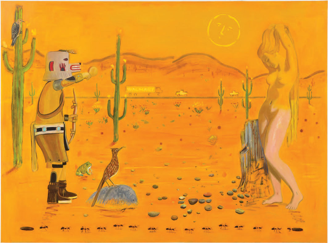 "Raul Guerrero, A Desert Road, 2019, oil on linen, 80 × 108""."