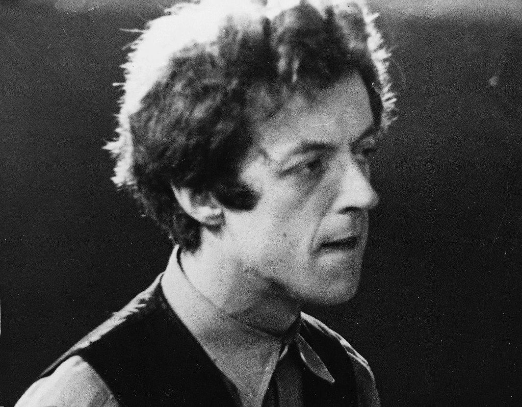 Cornelius Cardew at Alexandra Palace, London, 1971. Courtesy of Horace Cardew.