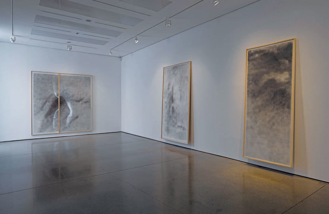 "*View of ""David Hammons,"" 2014–15,* White Cube Mason's Yard, London. Photo: Jack Hems and Patrick Dandy."