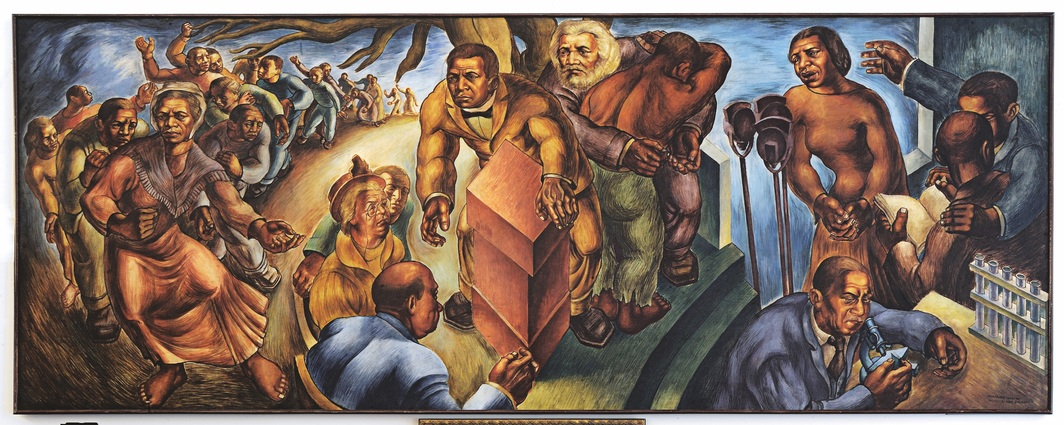 Charles White, Five Great American Negroes, 1939, oil on canvas, 60 x 155''. Photo: The Charles White Archives and The Howard University Gallery of Art, Washington, DC.