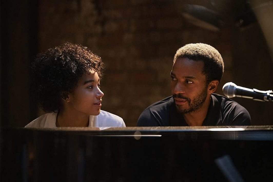 The Eddy, 2020, still from a TV show on Netflix. Julie and Elliot (Amandla Stenberg and André Holland).