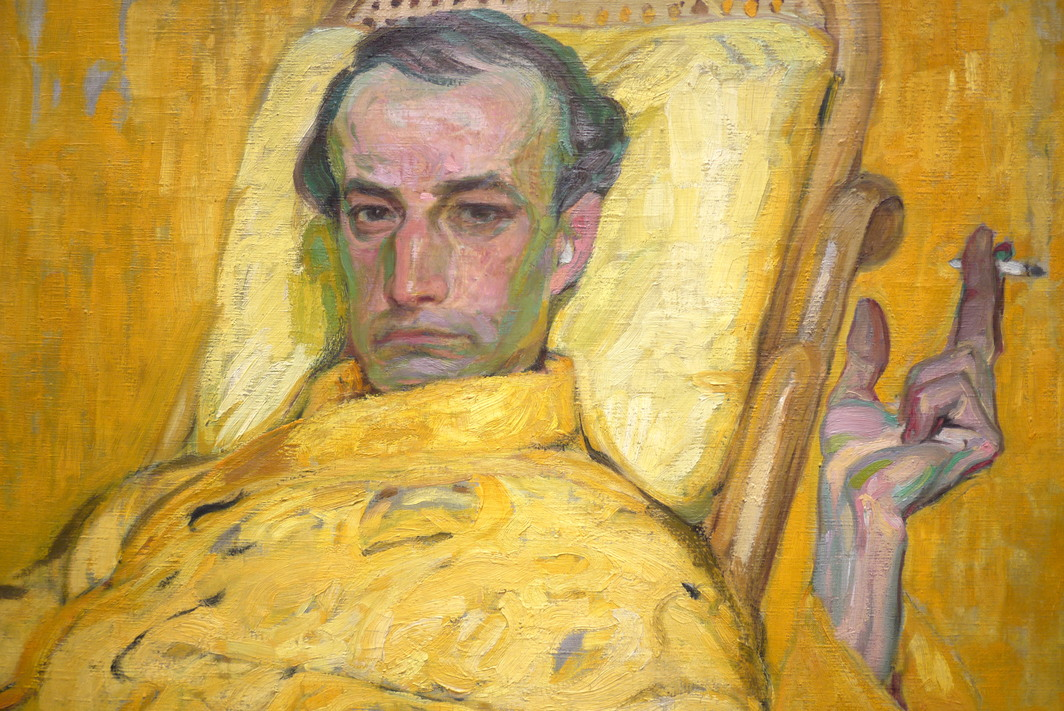 František Kupka, The Yellow Scale (detail), ca. 1907. Oil on canvas, 31 x 29 1/4''. Museum of Fine Arts, Houston.