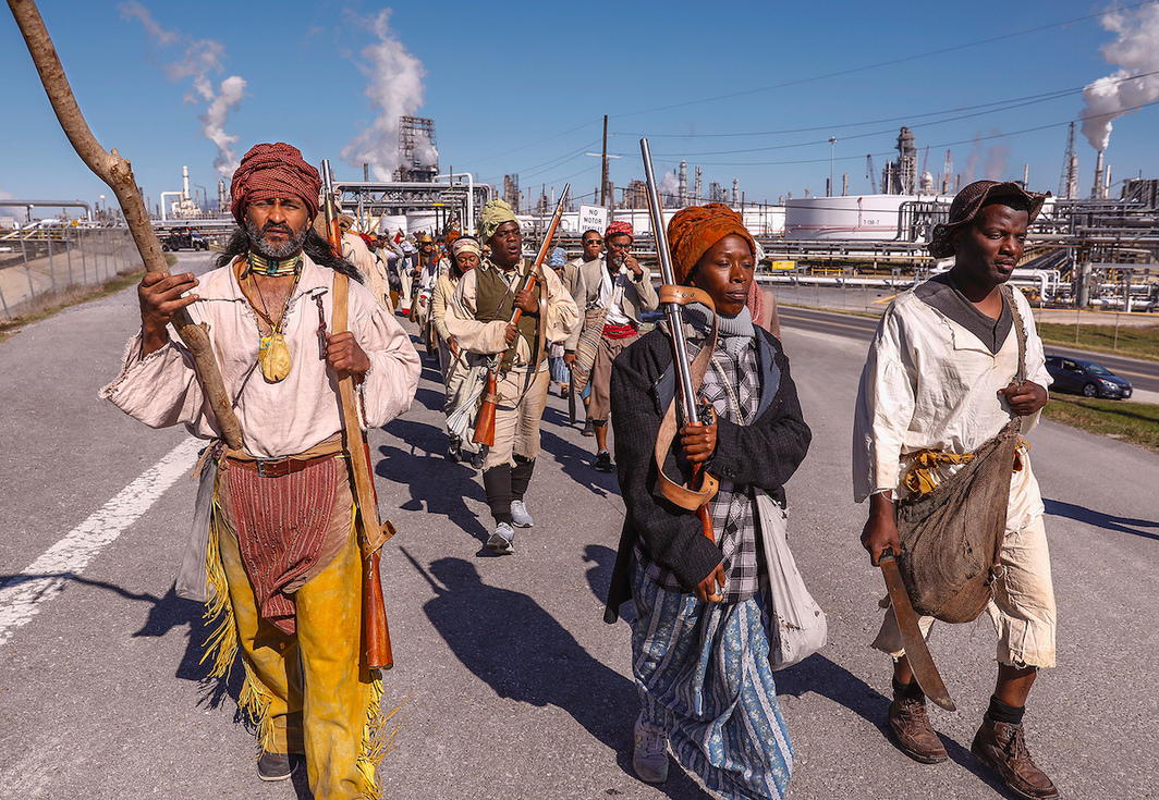 Dread Scott, Slave Rebellion Reenactment, 2019. Performance view, Louisiana, November 8–9, 2019.