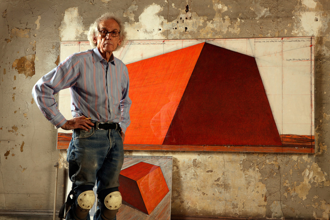 Christo. Photo: Wolfgang Volz.