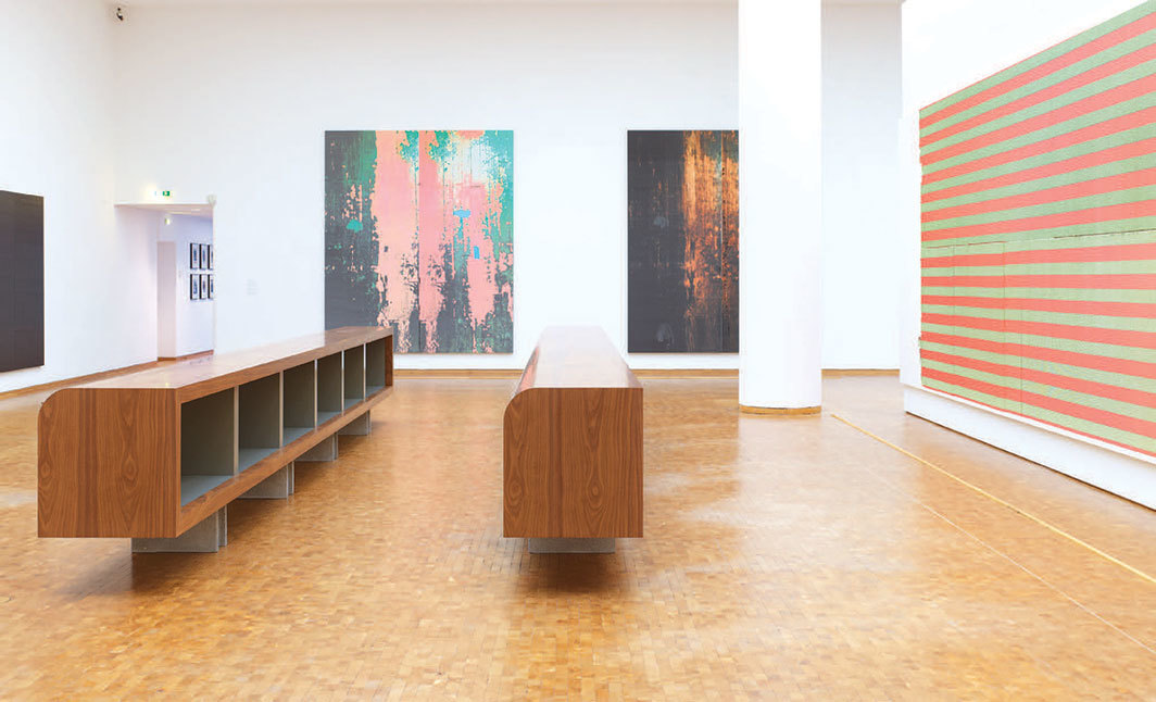 "View of ""Wade Guyton: Zwei Dekaden MCMXCIX–MMXIX,"" 2019–20. Photo: Simon Vogel."