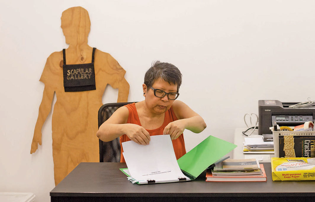 Judy Freya Sibayan, Performing My Self-archive, My Other Body: An Autobiographical Installation Art Performance, An Institutional Critique, 2020. Performance view.