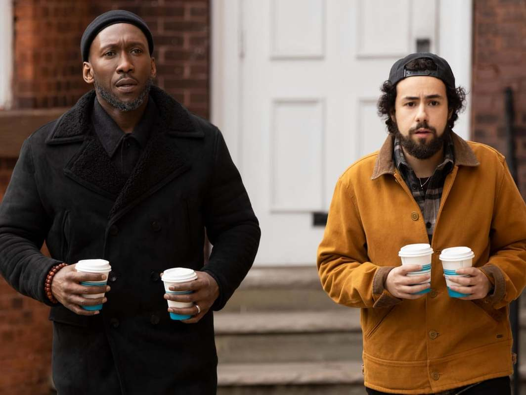 Ramy, still from a TV show on Hulu. Sheikh Ali Malik and Ramy Hassan (Mahershala Ali and Ramy Youseff).