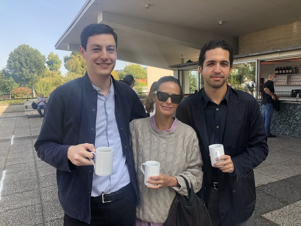 Dealers Lucas Casso and Marie-Christine Molitor and editor Pablo Larios.