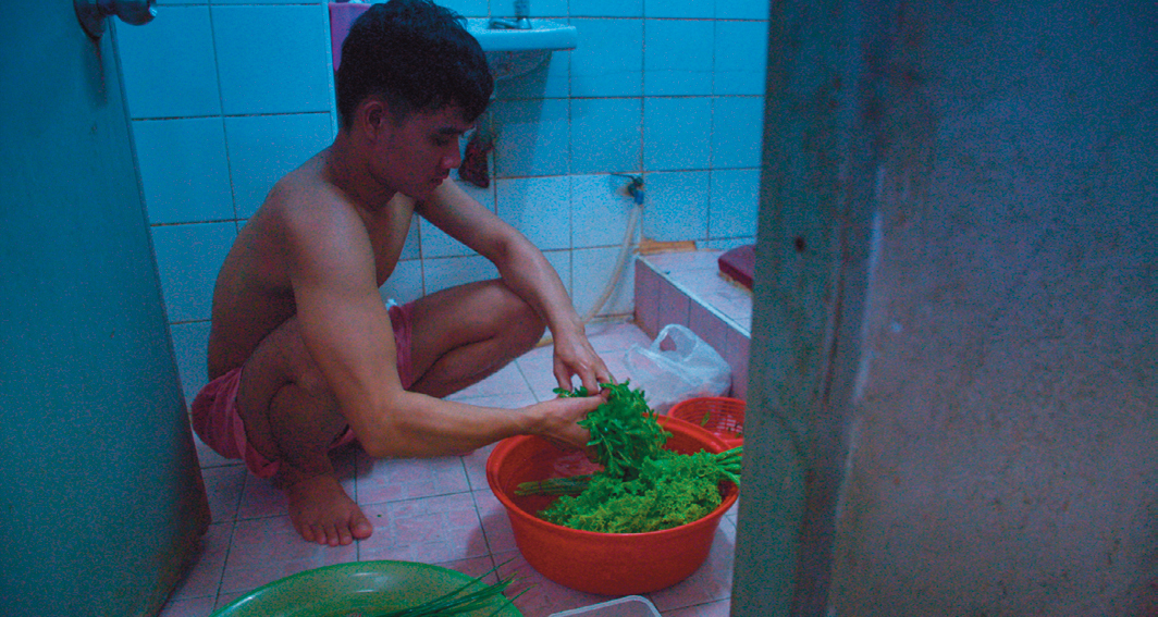 Tsai Ming-liang's Rizi (Days), 2020, 4K video, color, sound, 127 minutes. Non (Anong Houngheuangsy).