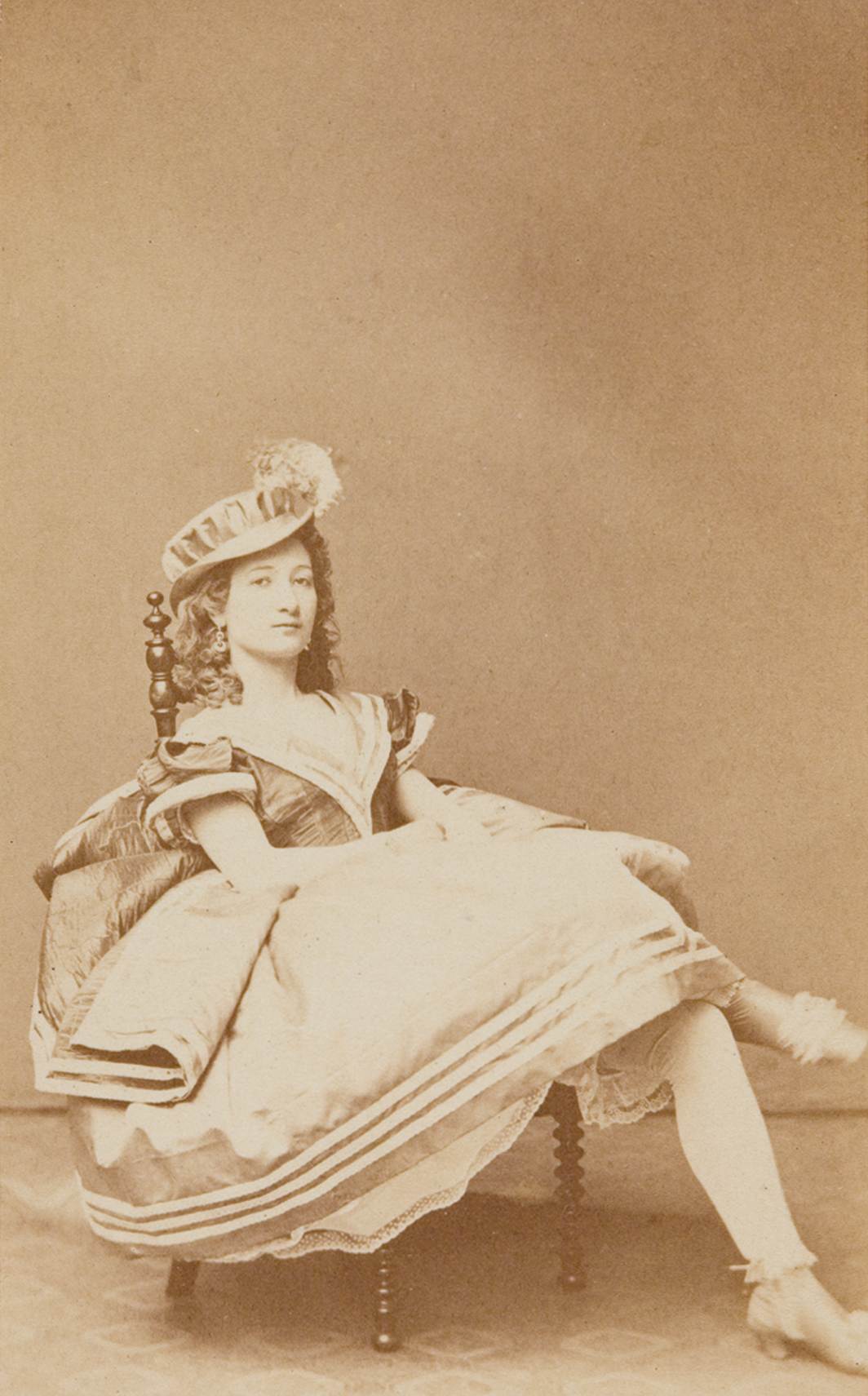Photograph from one of Empress Elisabeth  of Austria's photo albums, ca. 1862.