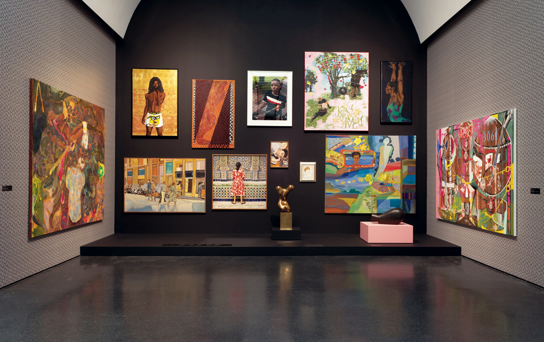 "View of ""Duro Olowu: Seeing Chicago,"" 2020, Museum of Contemporary Art Chicago. Photo: Kendall McCaugherty."