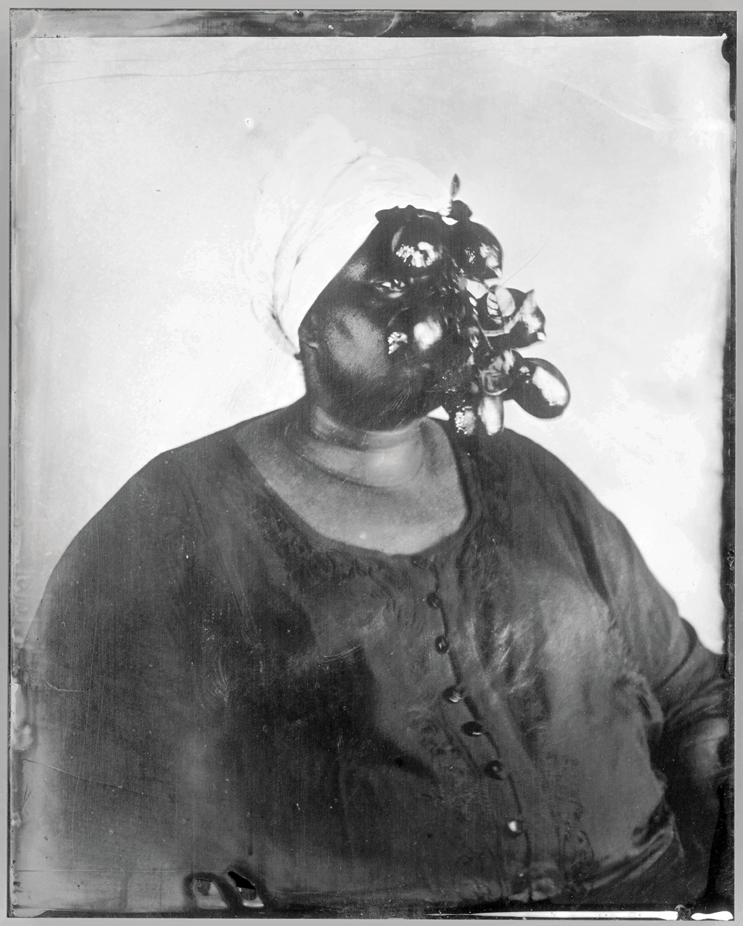 "Khadija Saye, Limoŋ, 2017, silk screen on vinyl, 24 1/8 × 19 3/4"". © The Estate of Khadija Saye."