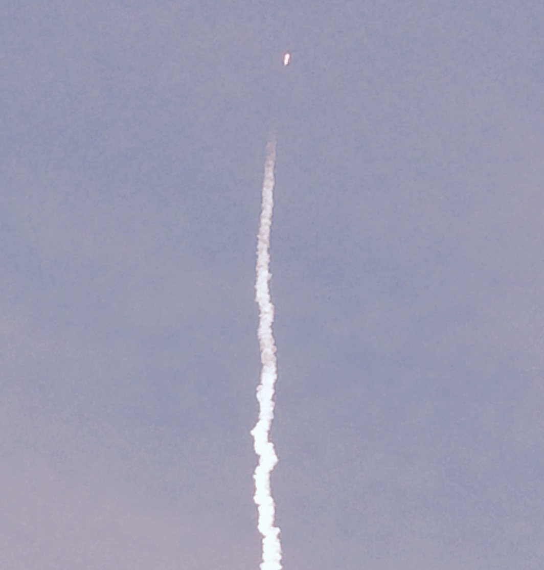 SpaceX launch from Cape Canaveral, Florida, January 7, 2020. Photo: Erica Dawn Lyle.