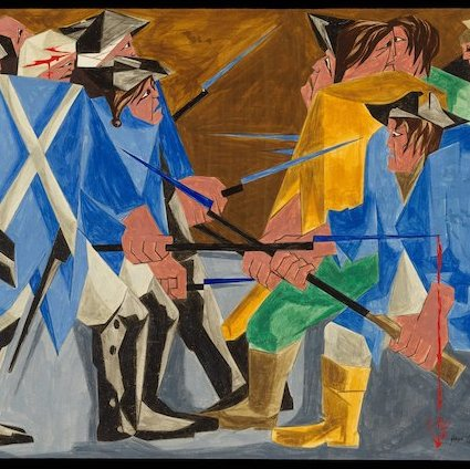 "The 1956 painting believed to belong to Jacob Lawrence's ""Struggle"" series. Photo: The Jacob and Gwendolyn Knight Lawrence Foundation, Seattle/Artists Rights Society (ARS)."